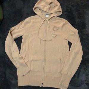 J.Crew 100% cashmere zip hoodie